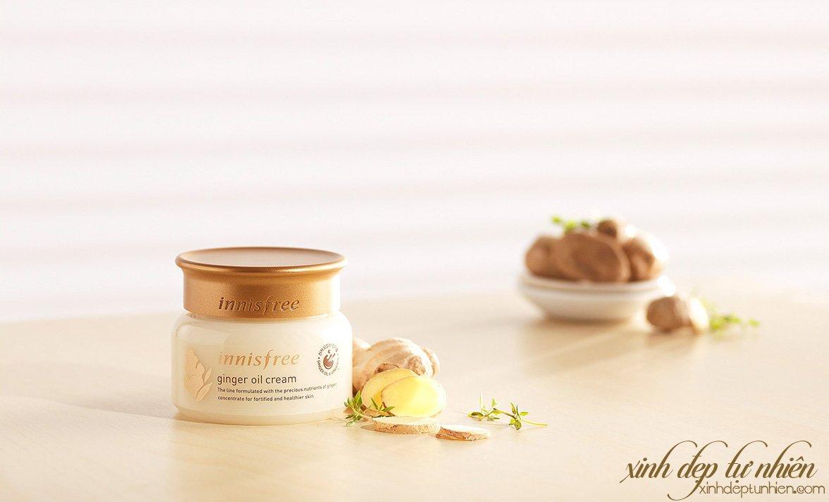 kem duong da chong lao hoa chiet xuat dau rung innisfree ginger oil cream