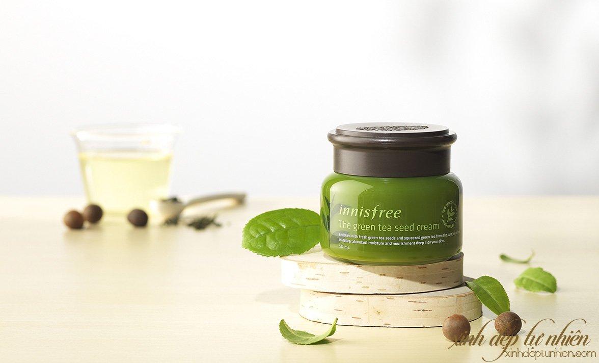 review kem duong da tra xanh innisfree the green tea seed cream