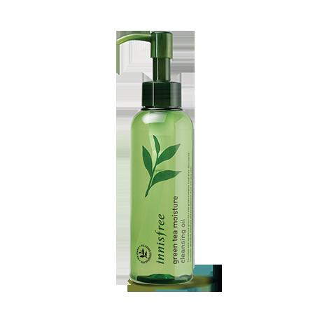dau tay trang tinh chat tra xanh danh cho da kho innisfree green tea moisture cleansing oil