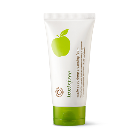 sua rua mat lam sach sau chiet xuat tu hat tao xanh innisfree apple seed deep cleansing foam